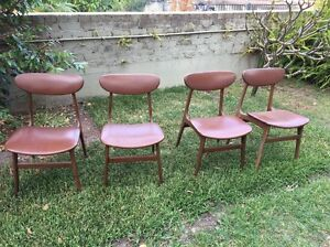 Mid century dining chairs Narraweena Manly Area Preview