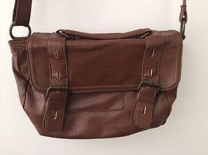 Brown faux leather shoulder bag Birkdale Redland Area Preview