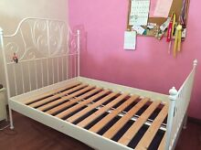 Ikea double bed frame white (Leirvik) Bexley Rockdale Area Preview