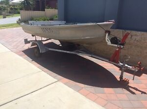 12 ft licensed dinghy and trailer Madeley Wanneroo Area Preview