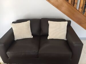 2 seater leather brown lounge Hillsdale Botany Bay Area Preview
