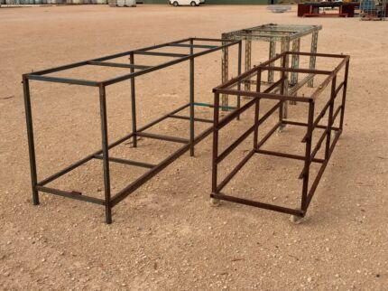 Steel bench frames
