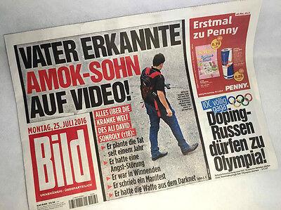 Bildzeitung vom 25.07.2016 zur Geburt * Doping Russen Olympia * AMOK Sohn
