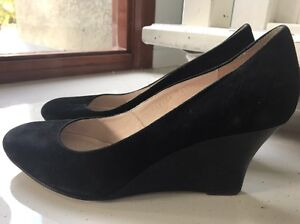 WITCHERY WEDGE HEELS/ SHOES* BLACK SUEDE LEATHER Benowa Gold Coast City Preview