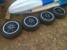4 Steel wheels with hubcaps Springwood Blue Mountains Preview