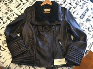 Michael Kors Women's Leather Jacket Revesby Bankstown Area Preview