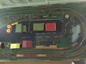 Custom Model Train Board Castle Hill The Hills District Preview