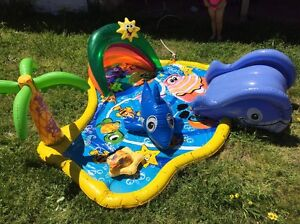 Outdoor water play mat with slide Orelia Kwinana Area Preview