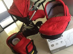 Steelcraft STRIDER COMPACT Stroller + Bassinet + Car Seat Labrador Gold Coast City Preview