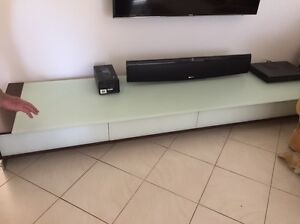 Glass TV cabinet Soldiers Point Port Stephens Area Preview