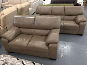 Leather Sofa Set - FACTORY 2nds Dandenong South Greater Dandenong Preview