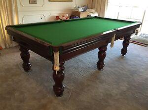 Pool billiard table 8 x 4 slate Templestowe Manningham Area Preview
