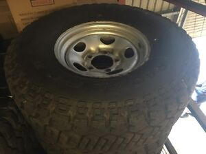 Landcruiser 79 100 gxl steel wheels with 315/75/16 tyres Maraylya The Hills District Preview