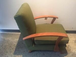 2 Vintage Green Lounge Chairs. North Bondi Eastern Suburbs Preview