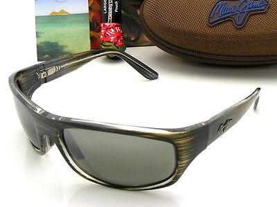 a2f1f6ce90e1 ... UPC 603429024031 product image for Maui Jim Surf Rider 261-11d Grey  Black Stripe Polarized ...