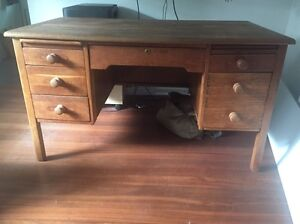 Large antique retro desk- possibly oak Coolbinia Stirling Area Preview