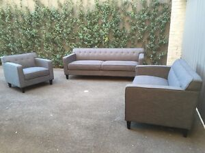 3+2+1 seater fabric sofa lounges South Yarra Stonnington Area Preview