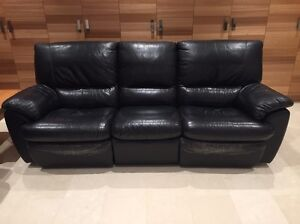 Black Leather Modular Lounges with Recliners Rose Bay Eastern Suburbs Preview