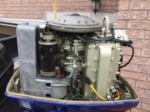 55 HP Evinrude outboard engine