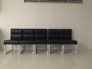 10x black genuine leather chairs Leppington Camden Area Preview