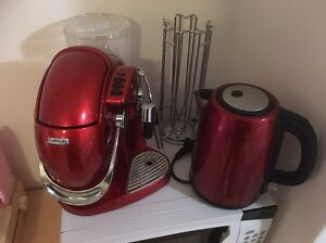 Red Coffee Machine Kettle and pod holder Brookvale Manly Area Preview