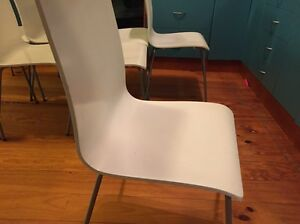 8 white dining chairs Beaumaris Bayside Area Preview