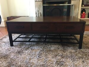 Solid Timber Coffee Table with Drawers North Sydney North Sydney Area Preview
