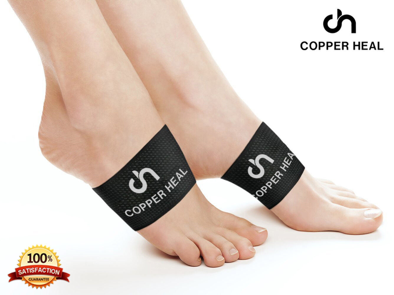 Arch Copper Compression Support Brace  COPPER HEAL Foot Plan