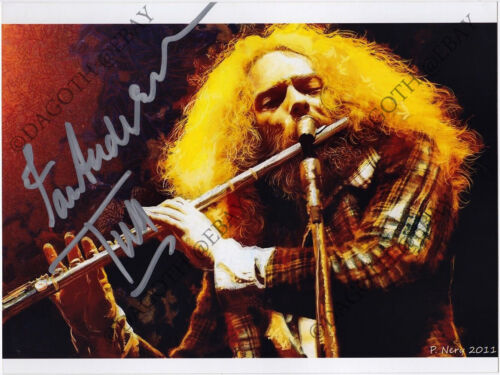 JETHRO TULL Photo IAN ANDERSON Aqualung Thick as A Brick Bouree Autograph SIGNED
