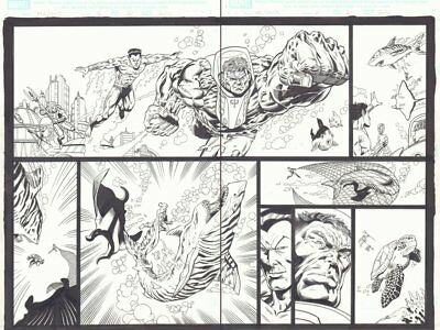 Marvel Adventures Hulk #6 p20&21 DPS Namor the Sub-Mariner art by Mario Gully for sale  Shipping to United Kingdom