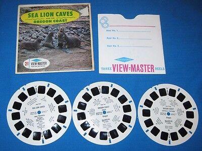 "Sawyer View-Master ""SEA LION CAVES & OREGON COAST"" 3 Reel set"