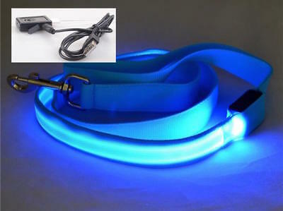 4FT RECHARGEABLE PET (1FT LED) GLOW LEASH safety lead flash light-up FOR dog cat ()