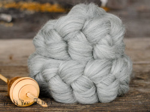 GRAY CORRIEDALE Wool Roving Undyed Combed Top Natural Ecru Spinning Felting 4 oz