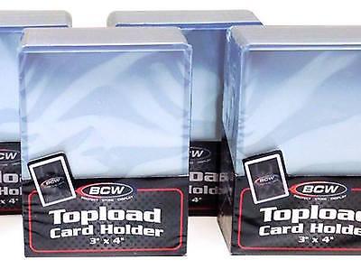 300 Rigid Card Topload Holders  PLUS 300 Card Sleeves - Hard Plastic Top Load