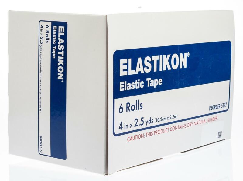 "ELASTIKON Elastic Tape, 4"" x 2.5 yd, 6/pk"