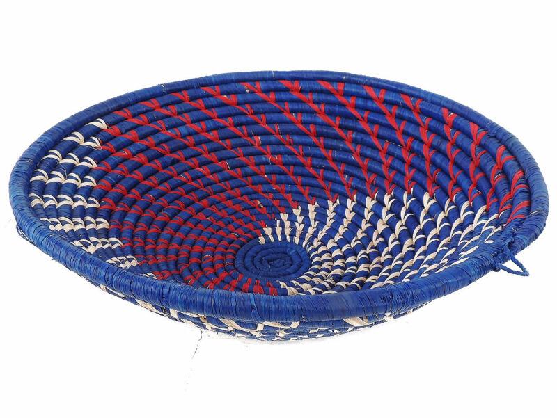 Uganda Basket Bowl Coiled African Art