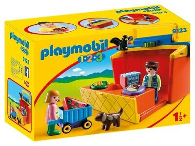Playmobil 9123 One-Two-Three Take Along Market Stall
