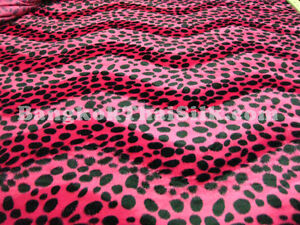 HOT-PINK-ANIMAL-PRINT-SOFT-VELVET-LEOPARD-FABRIC-60-W-UPHOLSTERY-PILLOW-BLANKET
