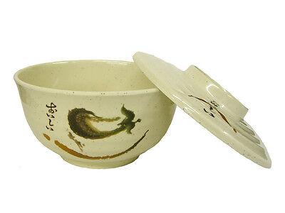 4 X 6.6/40 Oz Melamine Udon Noodle Soba Soup Bowl W/lid Eggplant Chi-yee 7157