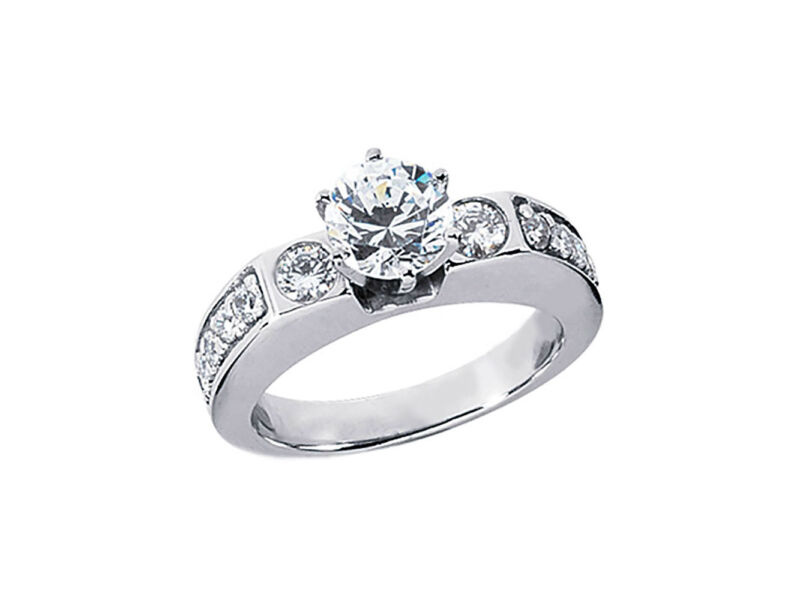 1.25Ct Round Brilliant Cut Diamond Engagement Ring Solid 14k Gold GH SI1