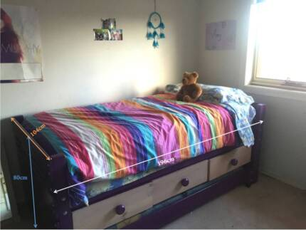 Bunkers Brand Captains Bed with elevated underbed drawers/trundle Macleod Banyule Area Preview