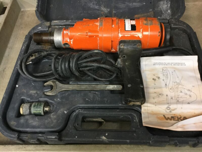 Core Bore Weka Dk12 Core Drill Diamond Products With Case