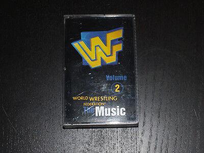 WWF the Music Vol. 2  Cassette 1997 WWE The Rock Stone Cold Undertaker HBK