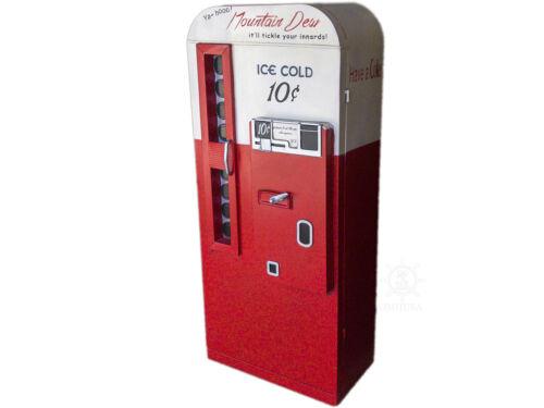 "Mountain Dew Coke Soda Pop Vending Machine Metal Model 57"" Cabinet Bookcase New"