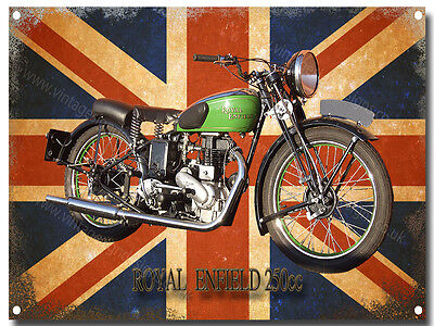 ROYAL ENFIELD MOTORCYCLE METAL SIGN