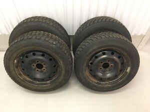 Set of 4x 205/60R16 Winter Tires in Steel Rims