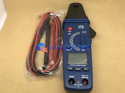 1pc New Cem Dt-337 Mini Acdc Digital Clamp Meter Tester Multimeter Cat Iii 600v