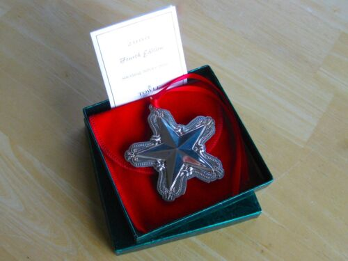 NEW • Towle 2000 Old Master STAR Sterling Silver Christmas Ornament