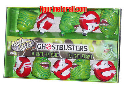 GHOSTBUSTERS Slimer & Logo Head Lites 10