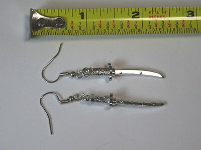 Japanese Sword Earrings Handmade Rare with gift wrapping
